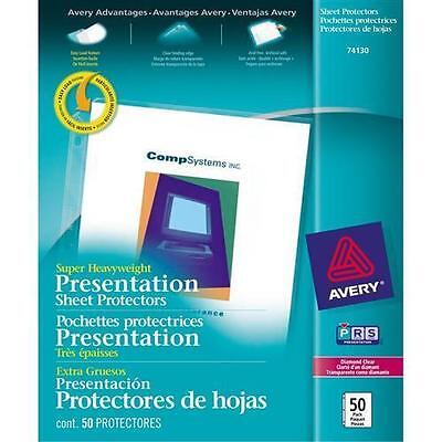 """Avery Diamond Clear Top Loading Sheet Protector - Letter 8.50"""" x 11"""" - Pol 74130"""
