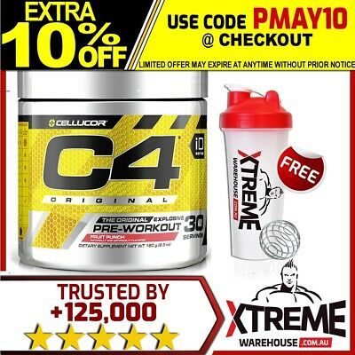 Cellucor C4 Gen4 30 Servings // Pre Workout Energy Focus Pumps Caffeine