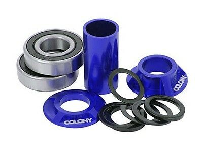 Colony BMX Spanish Bottom Bracket Kit 19mm Spindle - BLUE Super Price!