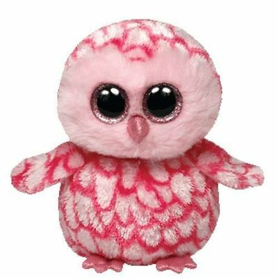 Pinky The Pink  Owl Ty Beanie Boos  Brand New