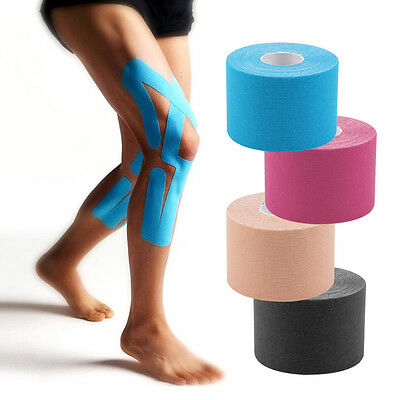 4/6 rolls 5cm Kinesiology Tape Elastic Sport Physio Muscle Strain Injury Support