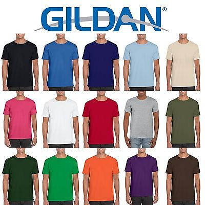Gildan Softstyle Cotton Plain Blank Mens Womens T Shirts Wholesale Cheap Bulk