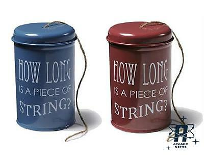 New Vintage Burgon & Ball 120 Meters Twine In A Tin String Storage Container