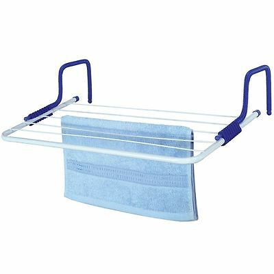 Radiator Airer 5 Bar Drying Rack Clothes Laundry Horse Hanger Adjustable Indoor