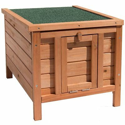 Pet House Wooden Hutch Rabbit Guinea Pig Animal Garden Brown Cage Hide Shelter