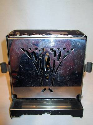 Antique Vtg Toaster Royal Rochester Chrome Black 13300 Deco 1930s Works No Cord
