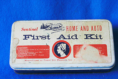 Vintage Sentinel Home And Auto First Aid Kit