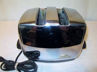 Antique Vtg Toaster Sunbeam T-35 T35 Chrome Radiant Control Auto Lowering Works