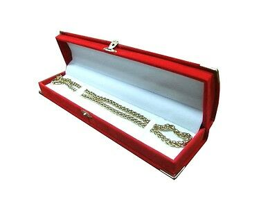 Red Bracelet Gift Box Velvet with Brass Accents Watch Gift Boxes 1 2 6 12 24 Pcs
