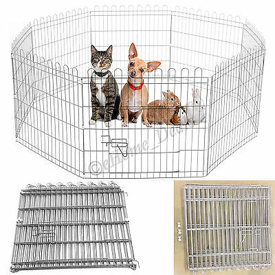 Folding Pet Dog Puppy Rabbit Cage Run Fence Garden Crate Outdoor Indoor Play Pen