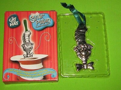CAT IN THE HAT Silver Plated Classic Ornament