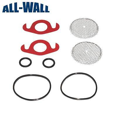 Level 5 Drywall Compound Pump Repair/Rebuild Kit w/ O-rings, Gaskets, Screens