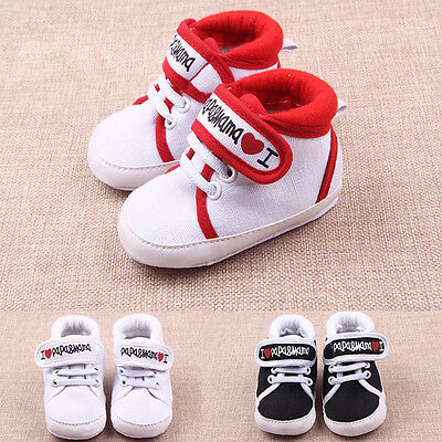 Toddler Kids Newborn Shoes Baby Infant Boy Girl Soft Sole Canvas Sneaker 0-18 M