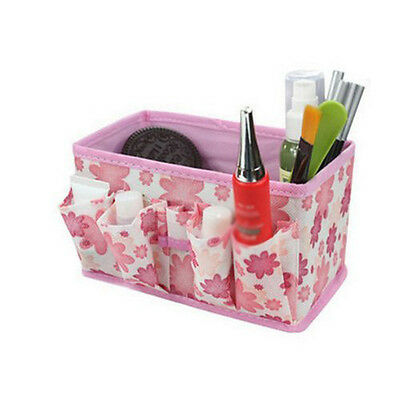 Folding Multifunction Cosmetic Storage Box Container Bag(Pink) DT