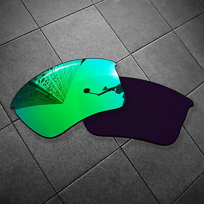 RAWD Jade Green Mirrored Replacement Lenses for-Oakley Flak Jacket XLJ POLARIZED