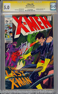 X-Men #59 Cgc 5.0 Oww Ss Stan Lee Signed Signature Series  Cgc #1197204006