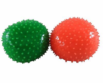 (2) Squeezable Blob Balls Relaxation Stress Balls for Kids Green & Orange