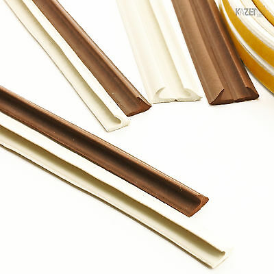 V Foam Draught Self Adhesive Window Door Excluder Seal Strip Rubber 1m-100m