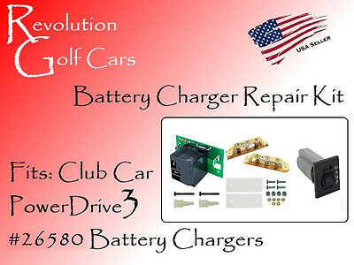 Battery Charger Repair Kit, Fits: Club Car 48 Volt (PowerDrive3 #26580)