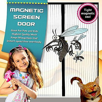 "Mosquitavert Magnetic Mesh Screen Door (doors up to 34"" x 82"")"