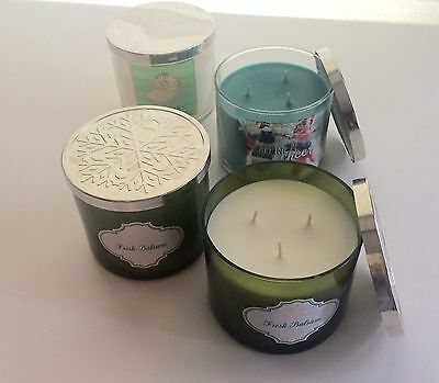Bath & Body Works 3 Wick Candles, 2 Used, 2 New