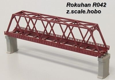 Rokuhan R042 Z Scale 220mm-long Single Track Bridge Red *NEW $0 SHIP in USA