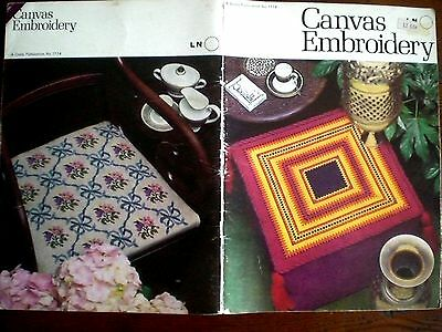 Vintage COATS CANVAS EMBROIDERY PATTERN BOOK No. 1114  Sewing Crafts