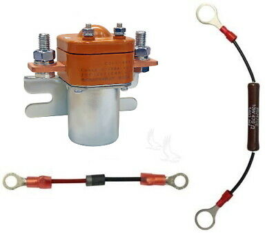 200 Amp Heavy Duty Solenoid/Diode/Resistor Pkg, 48V Golf Cart *Upgrade* 48 Volt