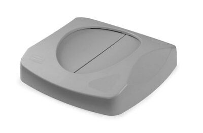 Lot of 4! Rubbermaid 2689-88 Gray Commercial Untouchable Square Swing Top Lids