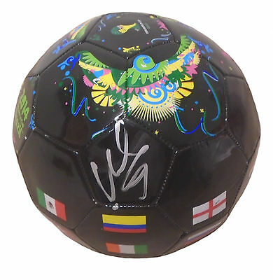 David Villa Signed '14 World Cup Black Soccer Ball,Spain,NYCFC,Autographed,Proof