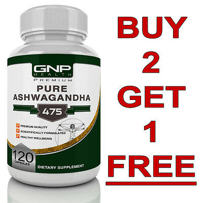 Ashwagandha - 120 Capsules - Anxiety Tablets & Stress Relief