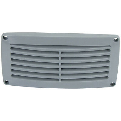 2 x Air Vents for Caravan / Boat Louvre Air vent Grey Rectangular 206mm x 106mm