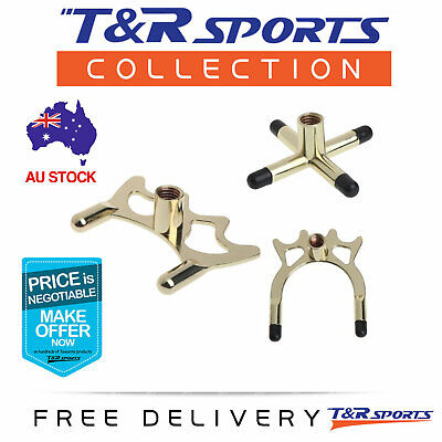 Brass Cross + Low & High Spider Rest Head for Pool Snooker Billiard Free Postage