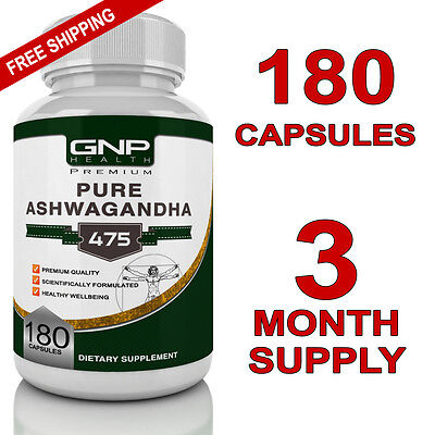 Ashwagandha - 180 Capsules - Anxiety Tablets & Stress Relief