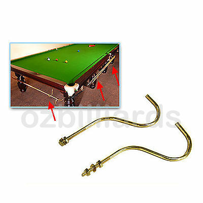 2x Brass Cue Rack Hangers for Pool Snooker Billiard Table Free AU Delivery