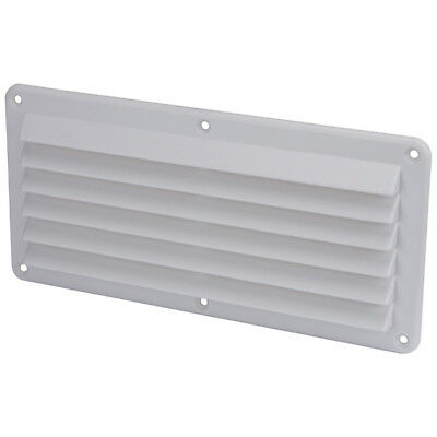2 x Air Vents for Caravan / Boat White ABS Plastic 260mm x 125mm Louvre Air vent