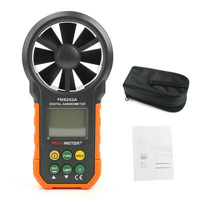 New HYELEC MS6252A LCD Digital Wind Speed Meter Anemometer Air Volume Measure TM
