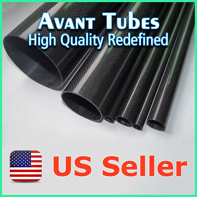 1000mm 3K Roll Carbon Fiber Tube 15 13 1000 4 pcs x Glossy 15mm OD 13mm ID