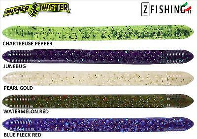 "POC'IT FRY 4,5"" Mister Twister 10pz 11,5cm spinning wacky worm lago bass gomma"