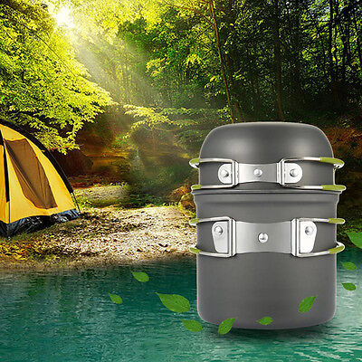 Outdoor Non-stick Hiking Camping Picnic Backpacking Tableware Pot Pan New