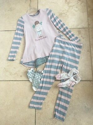 Monnalisa Patisserie Girl Tunic And Legging Set And Socks Age 36 Months Age 3