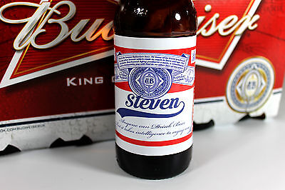 Personalised Budweiser Beer Bottle Labels Novelty Birthday Christmas Gift