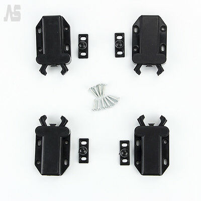 Push To Open Drawer Cabinet Catch Touch Latch Release Kitchen Cupboard Doors x 4