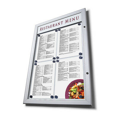 Outdoor Weather Resistant Locking Menu Case - A2 or 4 x A4 Menus