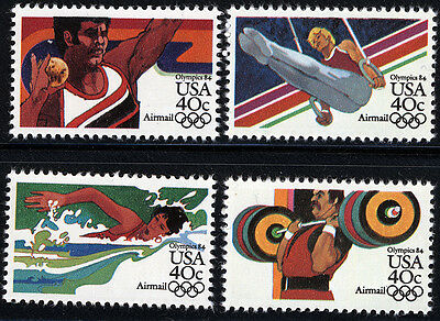 US Scott #C105-C108 LA Summer  Olympics  SET of 4 MNH ***FREE SHIP***