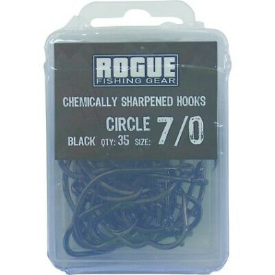 Rogue Circle Hook Black 7/0 35pk Value Pack