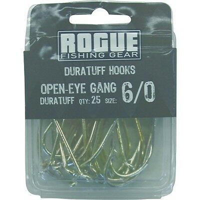 Rogue Open Eye Gang Hook 6/0 25pk Bulk Pack