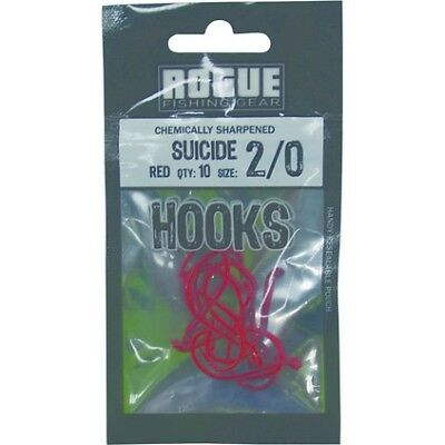 Rogue Suicide Hook Red 2/0 10pk Pre Pack