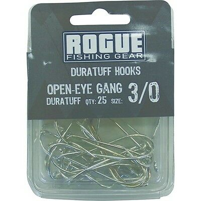 Rogue Open Eye Gang Hook 3/0 25pk Bulk Pack