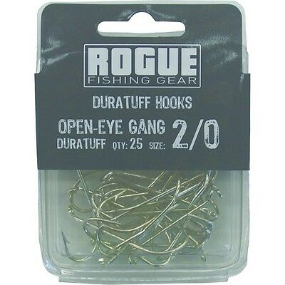 Rogue Open Eye Gang Hook 2/0 25pk Bulk Pack